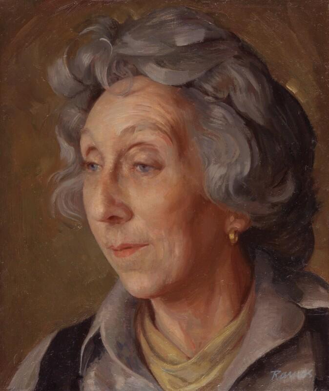 Anita Leslie, by Theodore Ramos, 1985 - NPG 5940 - © National Portrait Gallery, London