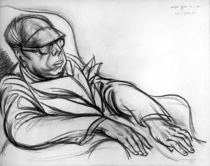 Wyndham Lewis, by Michael Ayrton, 1955 - NPG 6067 - © estate of Michael Ayrton / National Portrait Gallery, London
