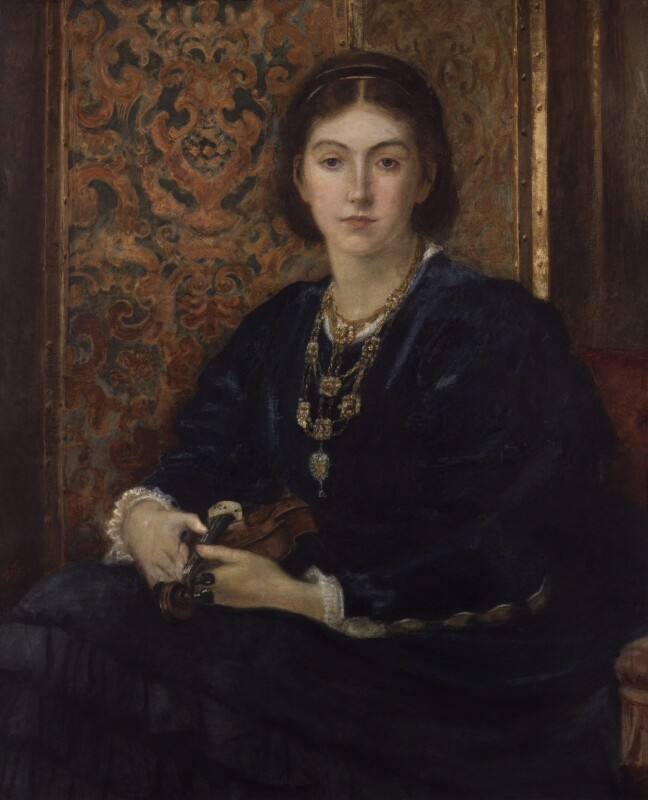 Caroline Blanche Elizabeth (née FitzRoy), Lady Lindsay, by Joseph Middleton Jopling, 1874 - NPG 5401 - © National Portrait Gallery, London