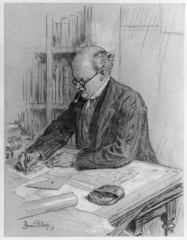 Sir Edwin Lutyens, by Sir (John) Bernard Partridge, circa 1927 - NPG 5429 - © National Portrait Gallery, London
