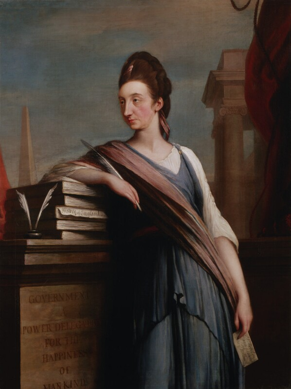 Catharine Macaulay (née Sawbridge), by Robert Edge Pine, circa 1775 - NPG 5856 - © National Portrait Gallery, London