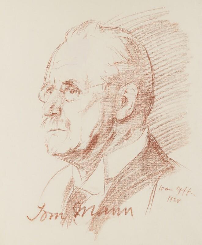 Tom Mann, by Ivan Opffer, 1938 - NPG 5447 - © National Portrait Gallery, London