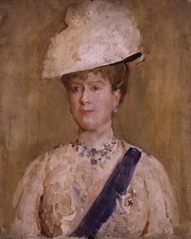 Queen Mary, by Solomon Joseph Solomon, 1914 - NPG 5424 - © National Portrait Gallery, London