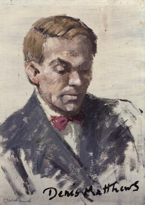 Denis Matthews, by Juliet Pannett, 1950s? - NPG 6038 - © National Portrait Gallery, London