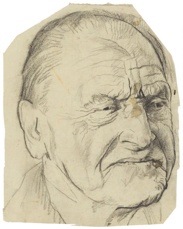 Somerset Maugham, by Graham Vivian Sutherland, 1953 - NPG 5328 - © National Portrait Gallery, London