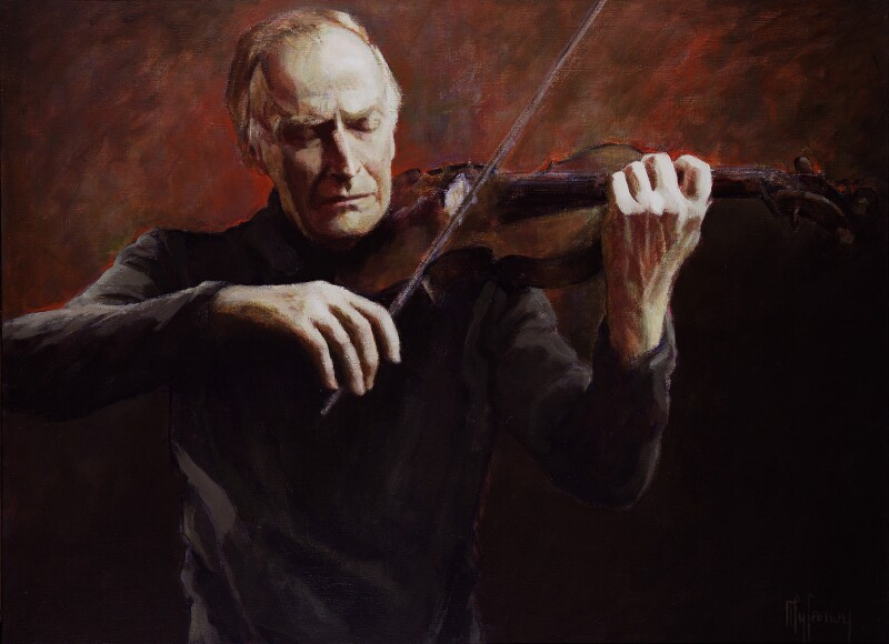 Yehudi Menuhin, by Myfanwy Pavelic, 1982 - NPG 5552 - © National Portrait Gallery, London
