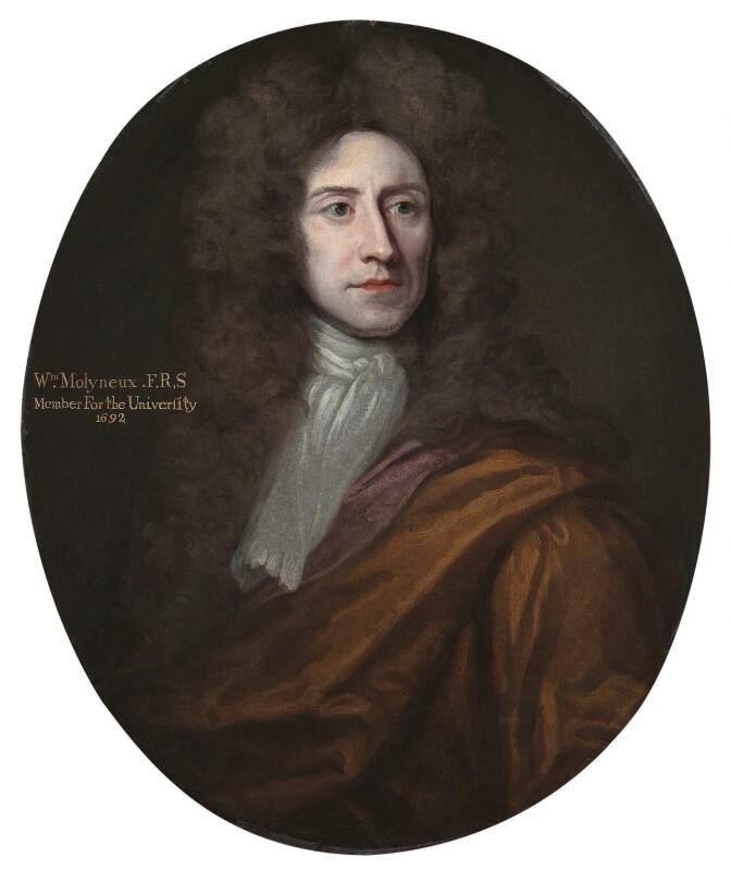 William Molyneux, by Unknown artist, circa 1696 - NPG 5386 - © National Portrait Gallery, London