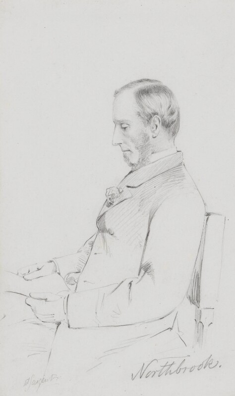 Thomas George Baring, 1st Earl of Northbrook, by Frederick Sargent, 1870s or 1880s? - NPG 5614 - © National Portrait Gallery, London