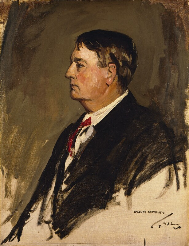 Alfred Harmsworth, 1st Viscount Northcliffe, by Sir John Lavery, 1921 - NPG 5836 - © National Portrait Gallery, London
