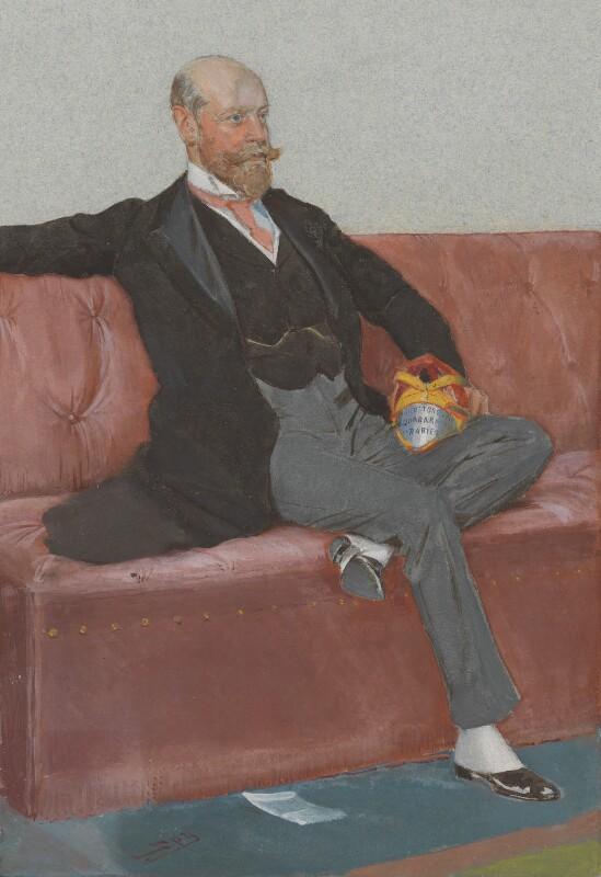 William Hillier Onslow, 4th Earl of Onslow, by Sir Leslie Ward, published in Vanity Fair 20 April 1905 - NPG 5394 - © National Portrait Gallery, London