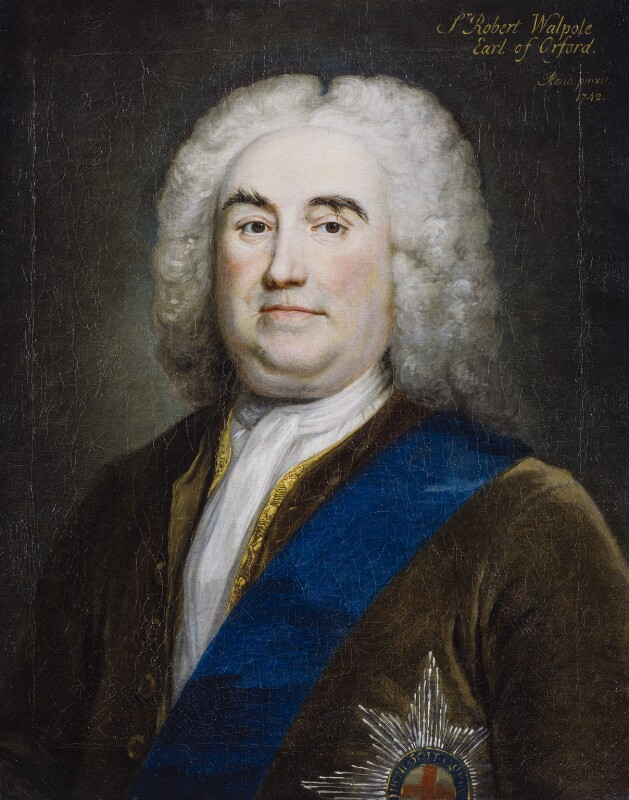 Robert Walpole, 1st Earl of Orford, by Arthur Pond, 1742 - NPG 6085 - © National Portrait Gallery, London
