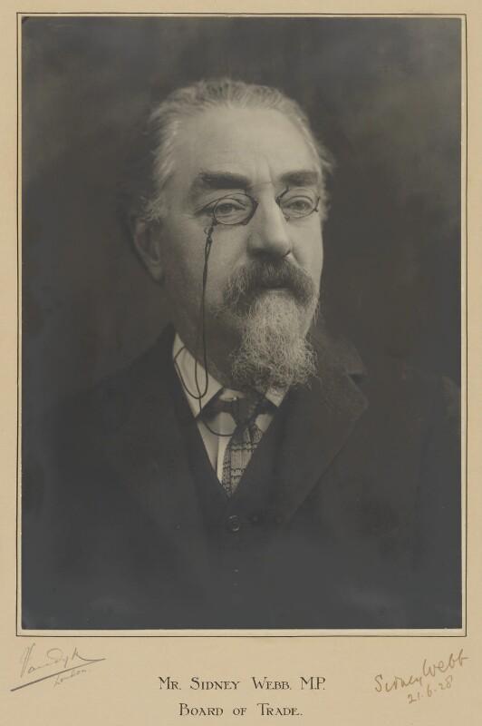 Sidney James Webb, Baron Passfield, by Vandyk, 1928 - NPG P328 - © National Portrait Gallery, London