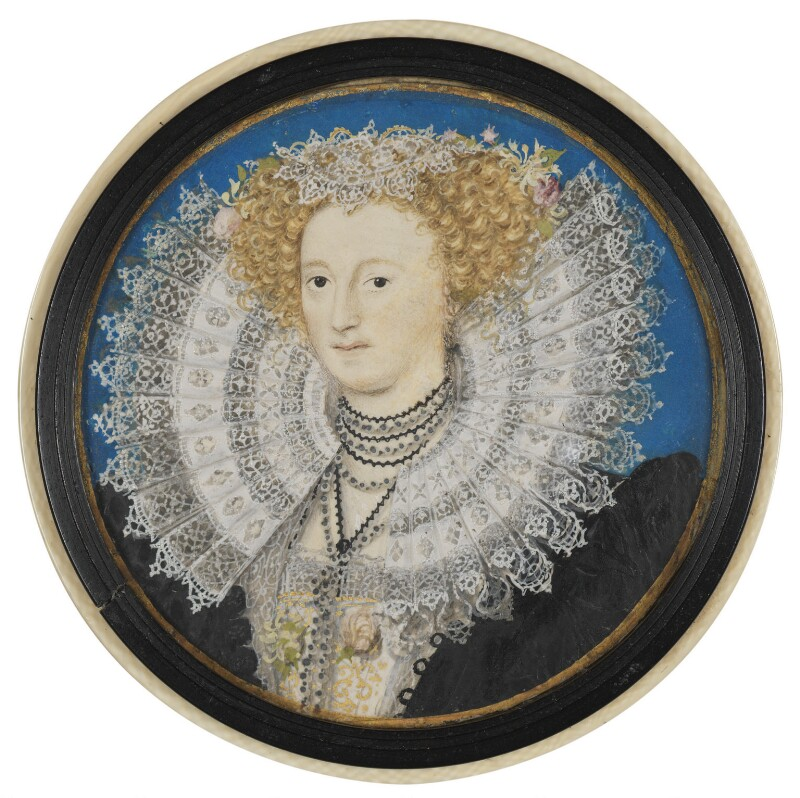 Mary Herbert, Countess of Pembroke, by Nicholas Hilliard, circa 1590 - NPG 5994 - © National Portrait Gallery, London