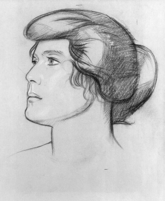 Dame Margery Perham, by Sir William Rothenstein, 1919 - NPG 5484 - © National Portrait Gallery, London