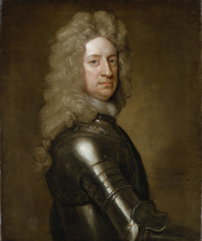 Charles Mordaunt, 3rd Earl of Peterborough, by Sir Godfrey Kneller, Bt, 1715 - NPG 5867 - © National Portrait Gallery, London