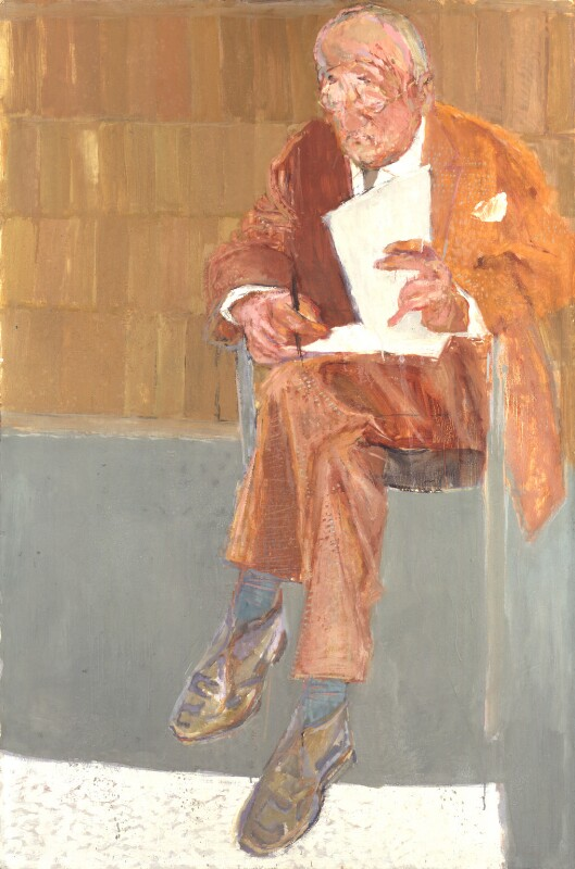 Nikolaus Pevsner, by Hans Schwarz, exhibited 1969 - NPG 5726 - © National Portrait Gallery, London