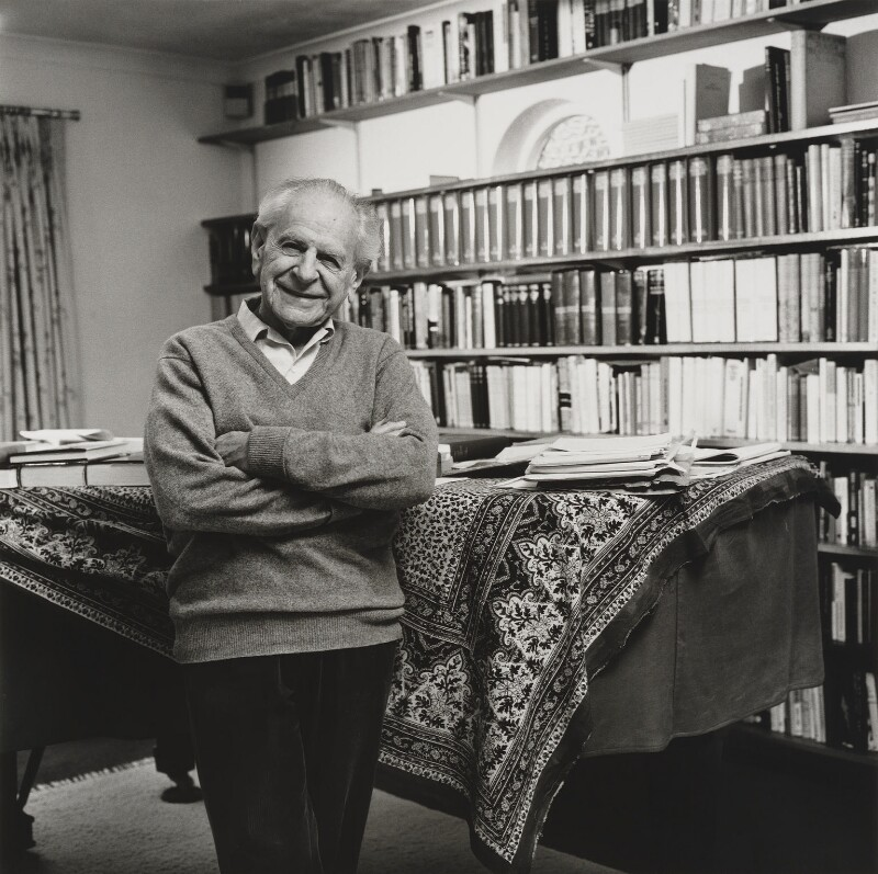 Sir Karl Raimund Popper, by Lucinda Douglas-Menzies, 1988 - NPG P370 - © Lucinda Douglas-Menzies / National Portrait Gallery, London