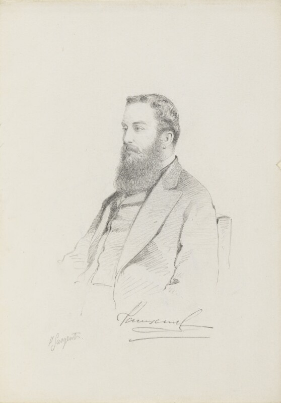 Mervyn Wingfield, 7th Viscount Powerscourt, by Frederick Sargent, 1860s or 1870s? - NPG 5667 - © National Portrait Gallery, London