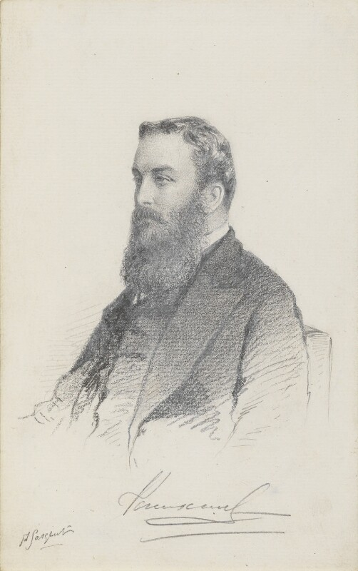 Mervyn Wingfield, 7th Viscount Powerscourt, by Frederick Sargent, 1860s or 1870s? - NPG 5668 - © National Portrait Gallery, London