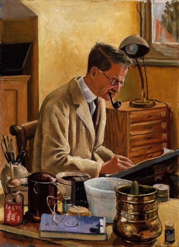William Heath Robinson, by Guy Worsdell, 1943 - NPG 5906 - © The Estate of Guy Worsdell/ DACS, 2018