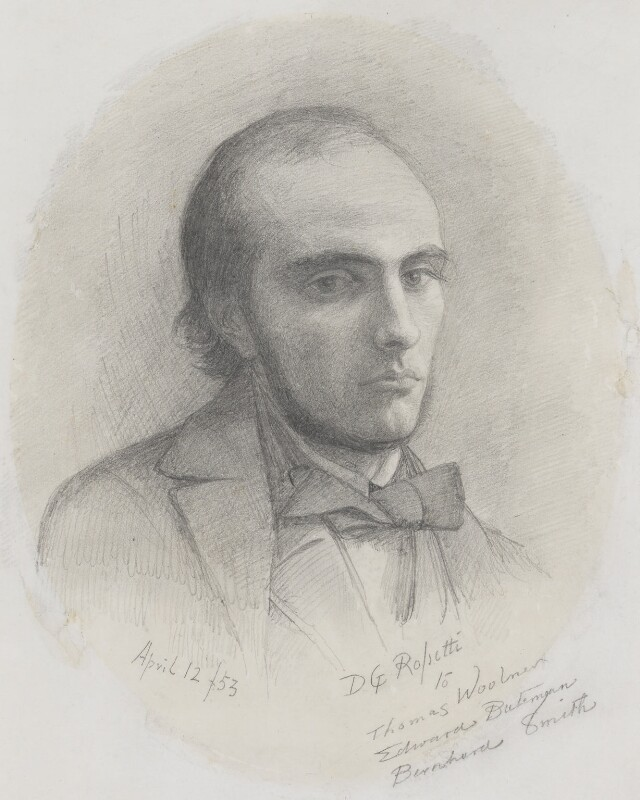 William Michael Rossetti, by Dante Gabriel Rossetti, 1853 - NPG 5428 - © National Portrait Gallery, London