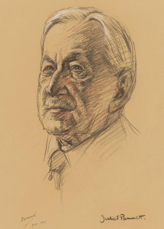 Edwin Herbert Samuel, 2nd Viscount Samuel, by Juliet Pannett, 1961 - NPG 6040 - © National Portrait Gallery, London