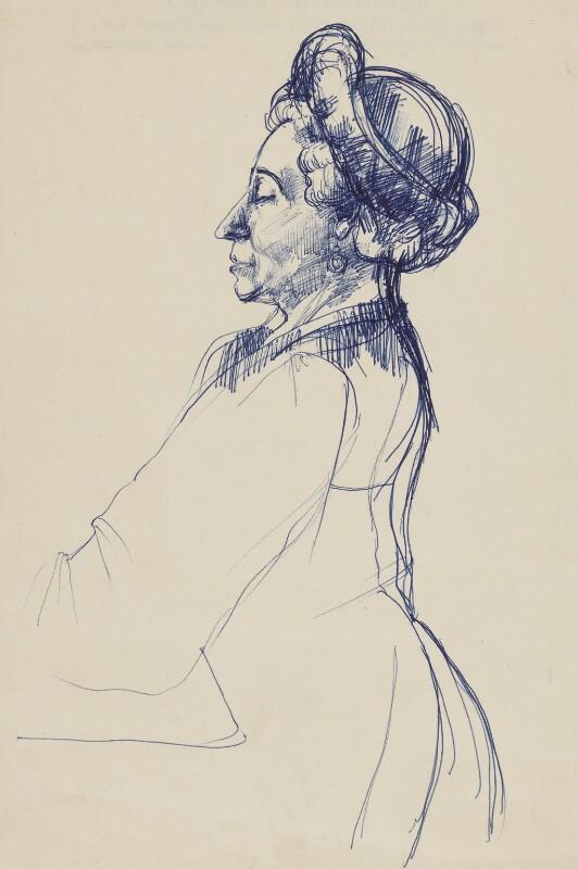 Lydia Sokolova, by (Arthur) Derek Hill, 1954 - NPG 6463 - © National Portrait Gallery, London