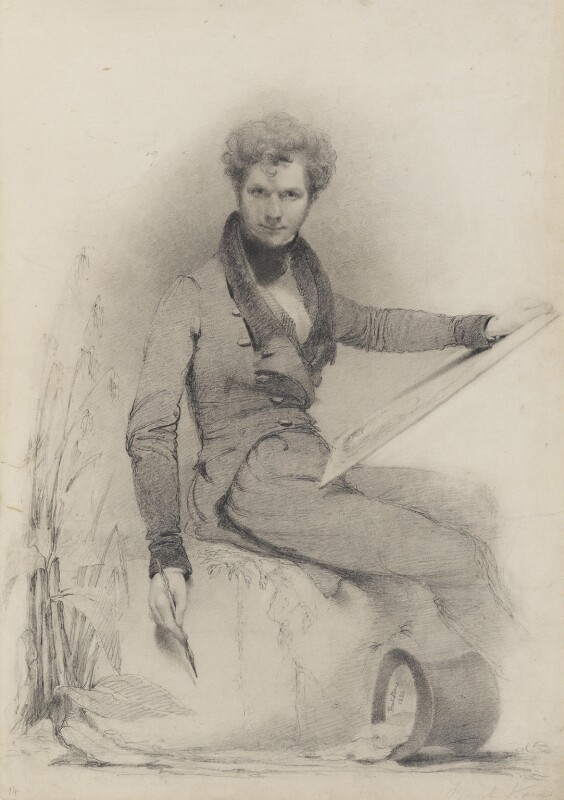 Frank Stone, by Frank Stone, 1824 - NPG 5700 - © National Portrait Gallery, London
