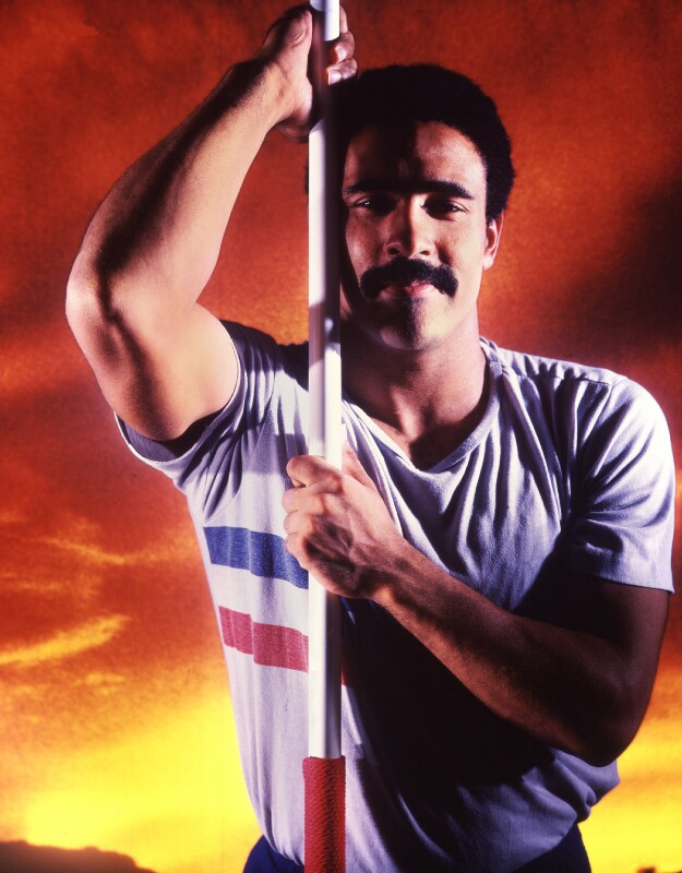 Daley Thompson, by David Buckland, October 1986 - NPG P323 - © National Portrait Gallery, London