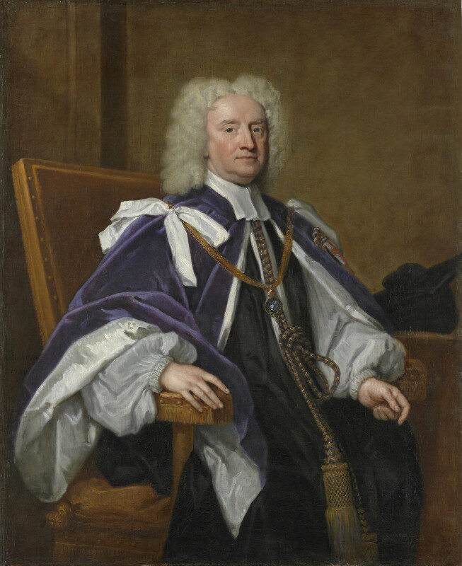 Sir Jonathan Trelawny, 3rd Bt, by Sir Godfrey Kneller, Bt, 1720 - NPG 5855 - © National Portrait Gallery, London