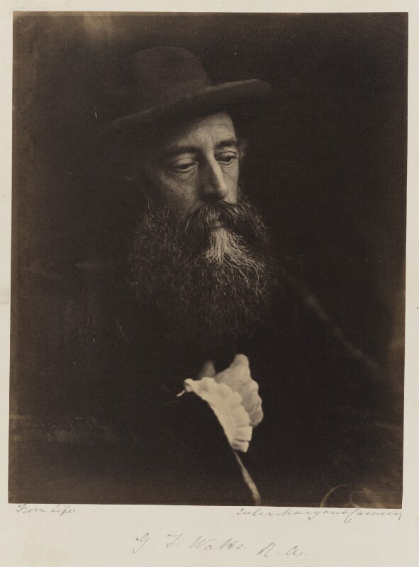 George Frederic Watts, by Julia Margaret Cameron, 1864 -NPG P215 - © National Portrait Gallery, London