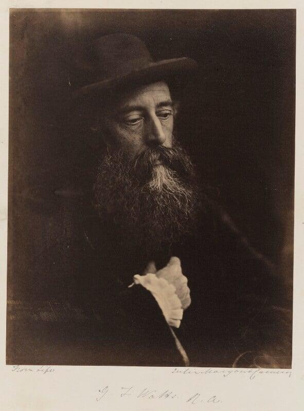 George Frederic Watts, by Julia Margaret Cameron, 1864 - NPG P215 - © National Portrait Gallery, London