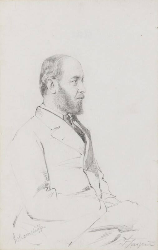 Edward Montagu Stuart Granville Montagu-Stuart-Wortley-Mackenzie, 1st Earl of Wharncliffe, by Frederick Sargent, 1870s or 1880s? - NPG 5680 - © National Portrait Gallery, London
