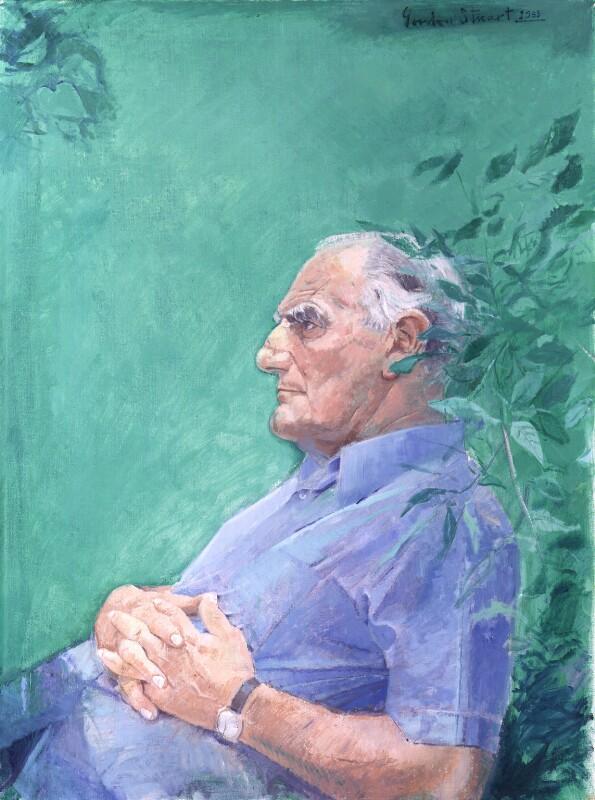 Sir Huw Wheldon, by Gordon Stuart, 1983 - NPG 5847 - © National Portrait Gallery, London