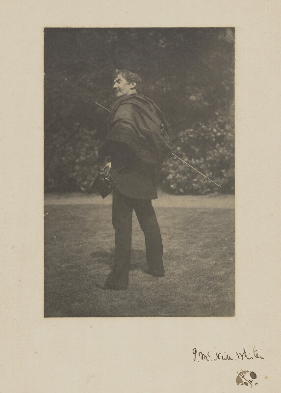 James Abbott McNeill Whistler, by Unknown photographer, Summer 1885 - NPG P356 - © National Portrait Gallery, London
