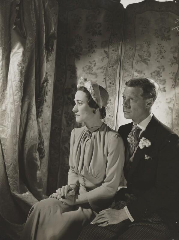 Wallis, Duchess of Windsor; Prince Edward, Duke of Windsor (King Edward VIII), by Cecil Beaton, 1937 - NPG P264 - © V&A Images