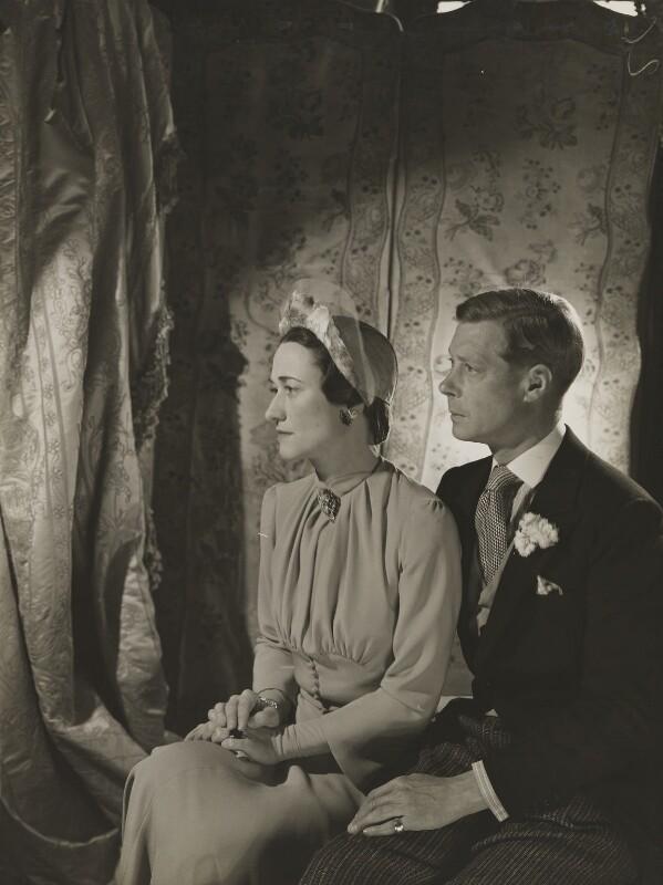 Wallis, Duchess of Windsor; Prince Edward, Duke of Windsor (King Edward VIII), by Cecil Beaton, 1937 - NPG P266 - © V&A Images