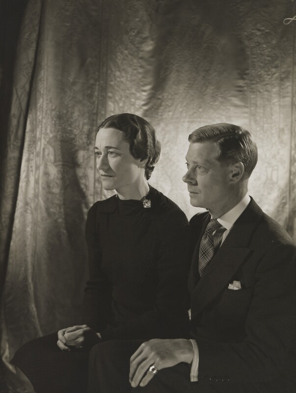 Wallis, Duchess of Windsor; Prince Edward, Duke of Windsor (King Edward VIII), by Cecil Beaton, 1937 - NPG P268 - © V&A Images