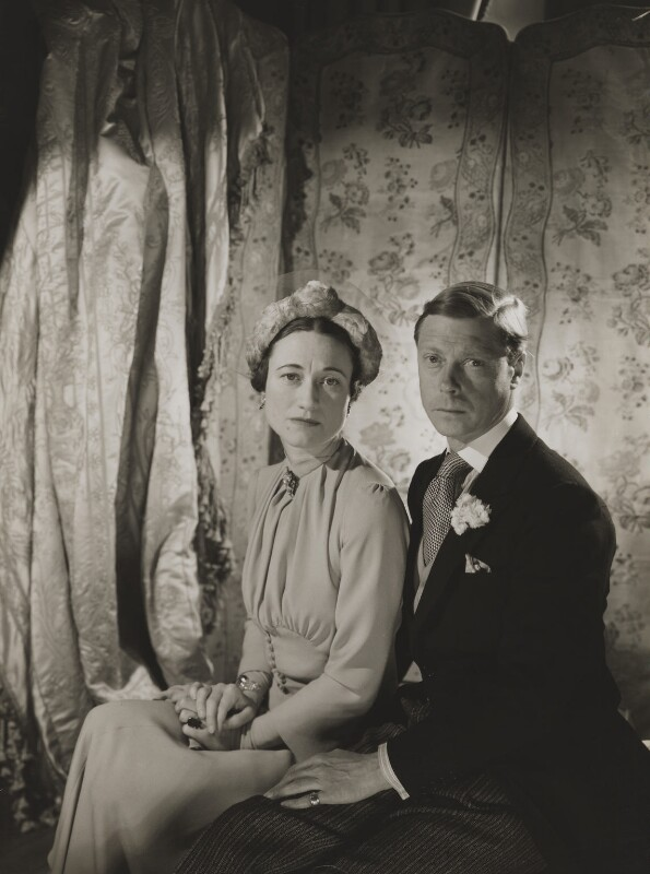 Wallis, Duchess of Windsor; Prince Edward, Duke of Windsor (King Edward VIII), by Cecil Beaton, 1937 - NPG P273 - © V&A Images