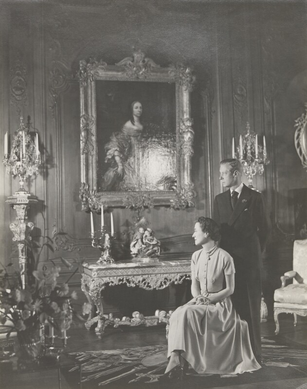 Wallis, Duchess of Windsor; Prince Edward, Duke of Windsor (King Edward VIII), by Cecil Beaton, 1949 - NPG P277 - © V&A Images