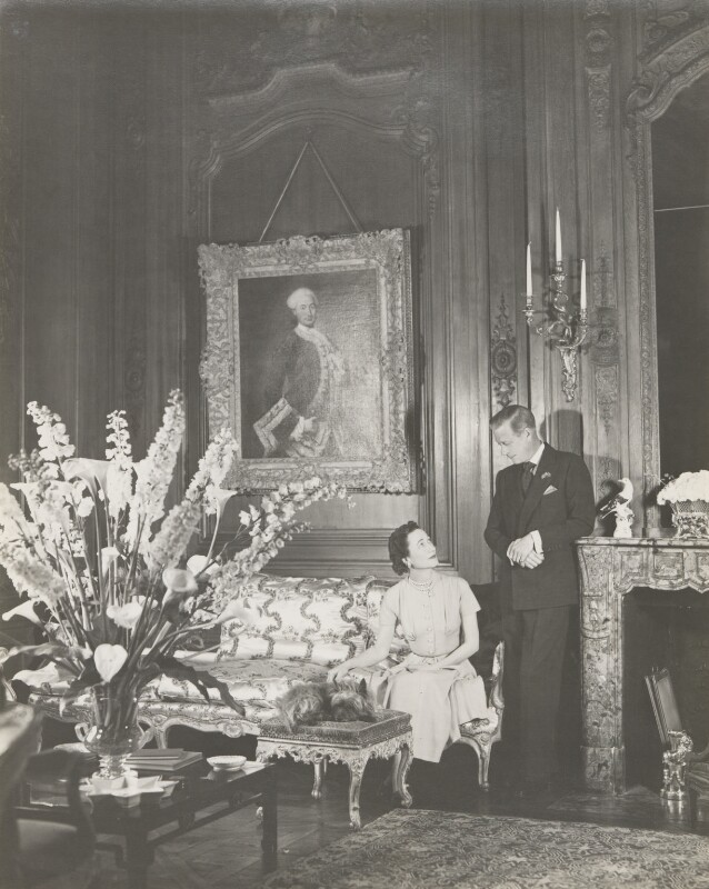 Wallis, Duchess of Windsor; Prince Edward, Duke of Windsor (King Edward VIII), by Cecil Beaton, 1949 - NPG P278 - © V&A Images