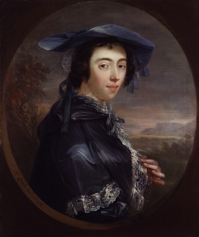 Peg Woffington, by John Lewis, 1753 - NPG 5729 - © National Portrait Gallery, London