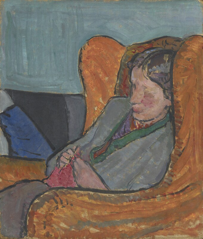 Virginia Woolf, by Vanessa Bell (née Stephen), 1912 - NPG 5933 - © National Portrait Gallery, London