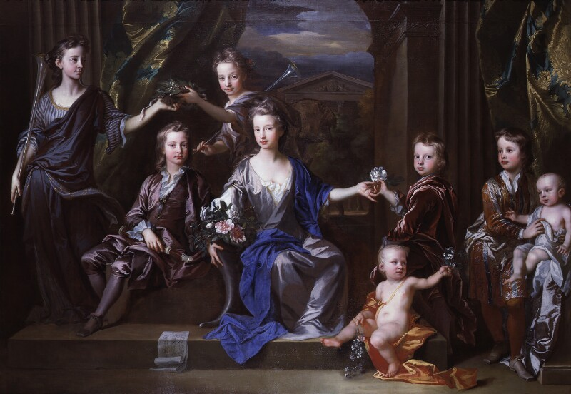 The Children of John Taylor of Bifrons Park, by John Closterman, 1696 - NPG 5320 - © National Portrait Gallery, London