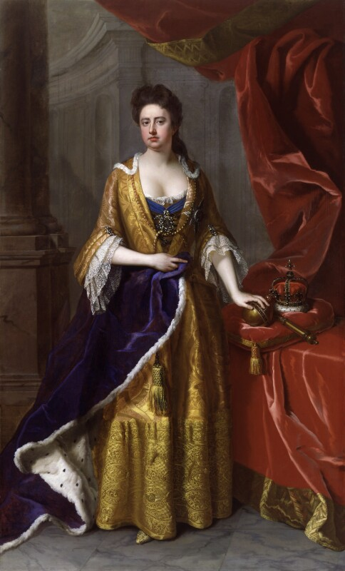 Queen Anne, by Michael Dahl, circa 1702 - NPG 6187 - © National Portrait Gallery, London