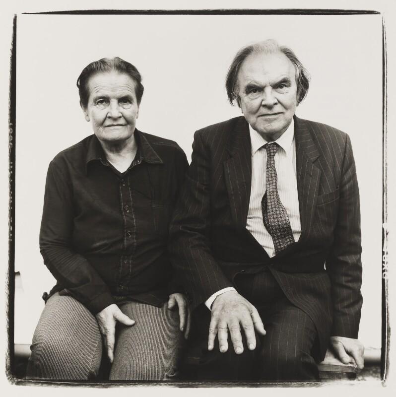 Gertrude Elizabeth Margaret Anscombe; Peter Thomas Geach, by Steve Pyke, 1990 - NPG P464 - © Steve Pyke