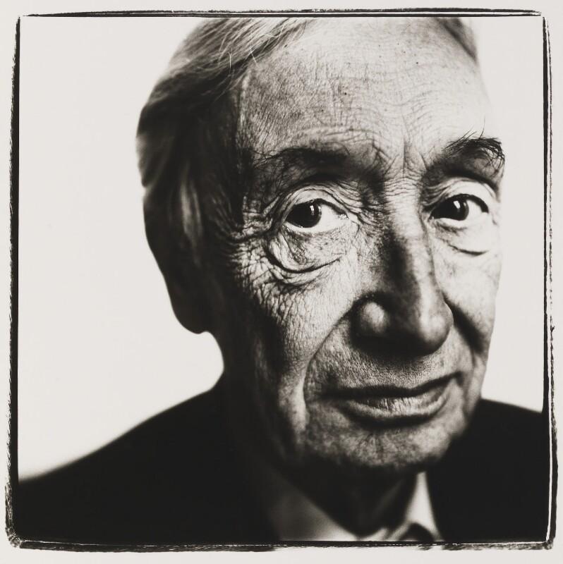 Sir Alfred Jules Ayer, by Steve Pyke, 1988 - NPG P465 - © Steve Pyke