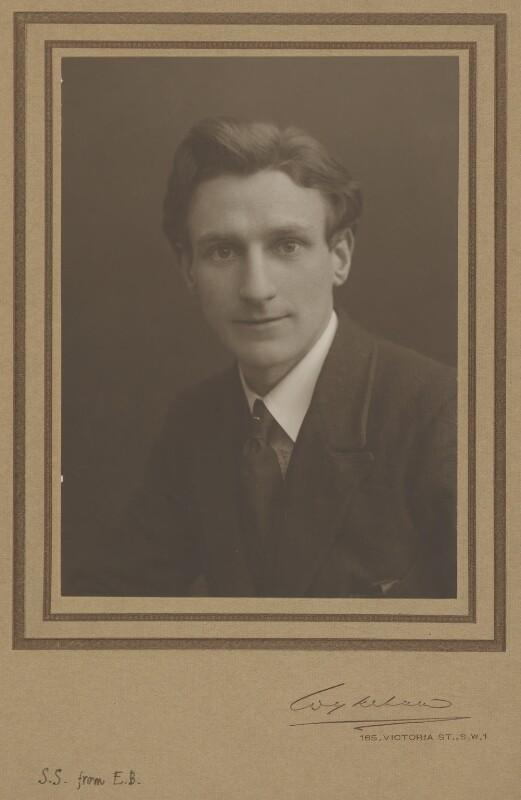Edmund Blunden, by Wykeham Studios Ltd, 1920s - NPG P516 - © National Portrait Gallery, London