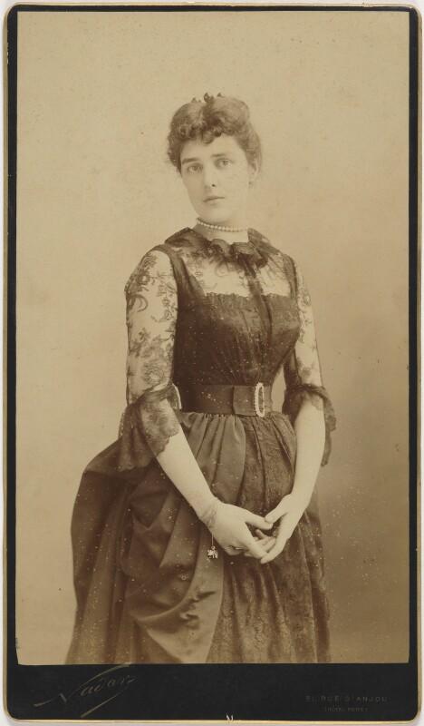 Jeanette ('Jennie') Churchill (née Jerome), Lady Randolph Churchill, by Nadar (Gaspard Félix Tournachon), circa 1885 - NPG P499 - © National Portrait Gallery, London