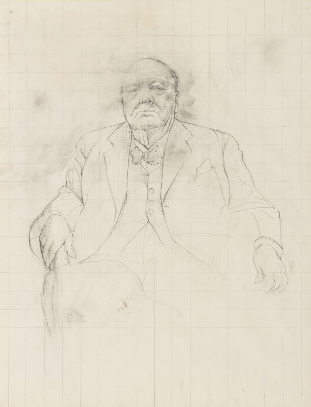 Winston Churchill, by Graham Vivian Sutherland, 1954 - NPG 6096 - © National Portrait Gallery, London